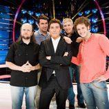 Santiago Segura, Arturo Valls, Francisco Javier Herrero y Daniel Diges con Manel Fuentes en 'Tu cara me suena'