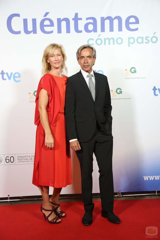 Ana Duato e Imanol Arias en la presentación de la decimocuarta temporada de 'Cuéntame cómo pasó'