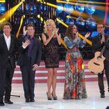 Manel Fuentes y el jurado de 'Tu cara me suena' durante la primera gala
