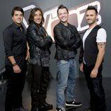 Luis Fonsi, Antonio Carmona, Tiziano Ferro y Nek en 'La Voz'