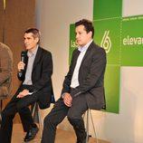 Antonio García Ferreras, Carlos Fernández y Mario López, en la rueda de prensa