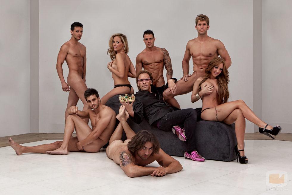 Extronistas de 'Mujeres y hombres y viceversa', desnudos con