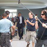 David Harewood y el equipo técnico rodando una escena en 'Homeland'