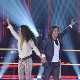Rosario y Antonio Carmona trabajan juntos en 'La Voz'