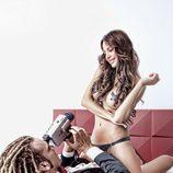 Begoña Alonso, semidesnuda con Torito