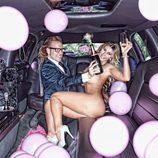 Malena Gracias desnuda en una limusina
