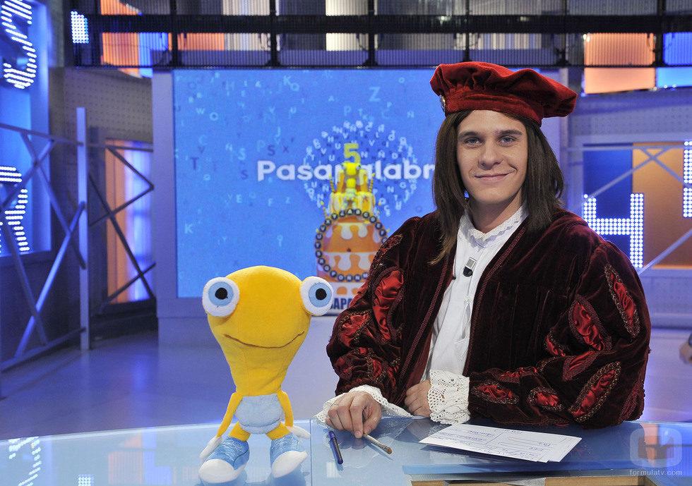 Christian Gálvez disfrazado de Leonardo Da Vinci