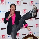 David Hasselhoff lanza la patada voladora en los MTV EMA 2012