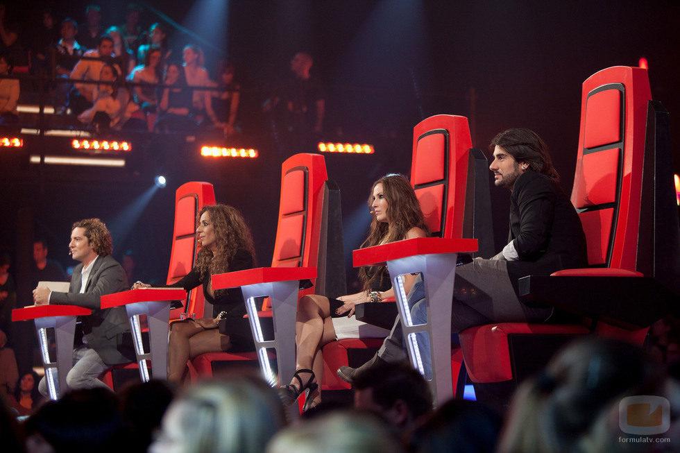 Los jueces en la primera gala en directo de 'La Voz'