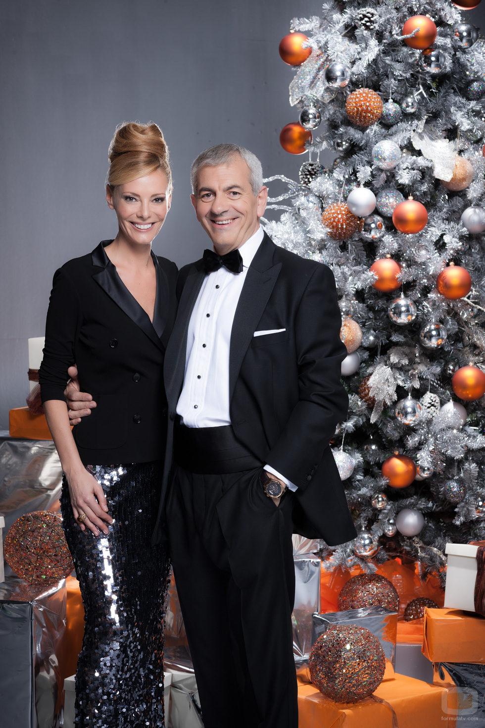 Paula Vázquez y Carlos Sobera recibirán el año 2013 en Antena 3