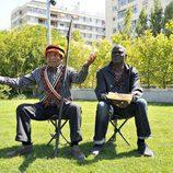 Miembros de la tribu Suri tras su paso por España para participar en la segunda temporada de 'Perdidos en la ciudad'