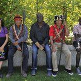 Encuentro entre las tribus Shiwiar y Suri en la grabación de la segunda temporada de 'Perdidos en la ciudad'