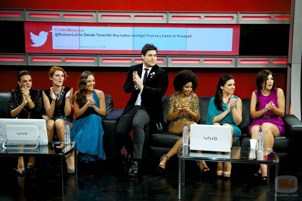 Los concursantes en la Sala Interactiva de Los Directos de 'La Voz'