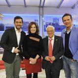 Màxim Huerta, Ana Rosa Quintana, el Padre Ángel y Joaquín Prat