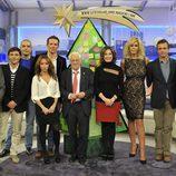 El equipo de 'El programa de Ana Rosa' con el Padre Ángel
