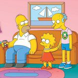 Homer, Bart y Mr Burns en una imagen promocional de la temporada 22 de 'Los Simpson'