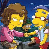 Milhouse encuentra un nuevo amor ante la mirada de Lisa en la temporada 22 de 'Los Simpson'