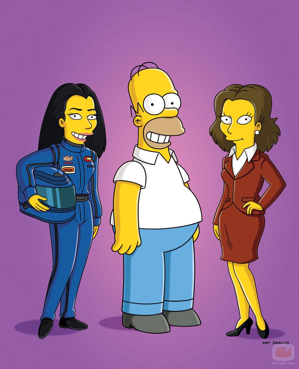 Homer Simpson con dos nuevas amigas en la temporada 22 de 'Los Simpson'