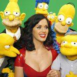 Katy Perry junto a los personajes de 'Los Simpson'