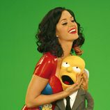 Katy Perry abraza a Mr. Burns de 'Los Simpson'