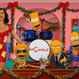 Katy Perry canta junto a los personajes de 'Los Simpson'