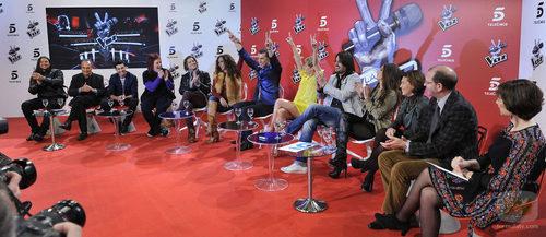 Rueda de prensa de 'La voz', tras la semifinal