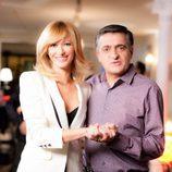 Susanna Griso y El Gran Wyoming en la promo conjunta de Antena 3 y laSexta