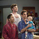 Ben, Riley y Tucker en 'Papá Canguro'