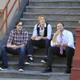 Nelson Franklin, Kris Marshall y David Denman son Adam, Ethan y Mike en 'Manos libres'