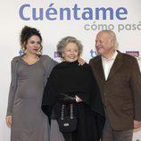Ana Arias, María Galiana y Juan Echanove en la preestreno de la 14ª temporada de 'Cuentame cómo pasó'