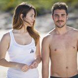 Ainhoa y Piti contentos de haber pisado tierra en el nuevo capítulo de 'El Barco'