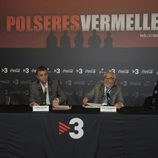 Albert Espinosa, Eugeni Sallent, Julio Fernández y Susana Jiménez en la rueda de prensa