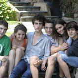 Los jóvenes actores de 'Pulseras rojas' juntos