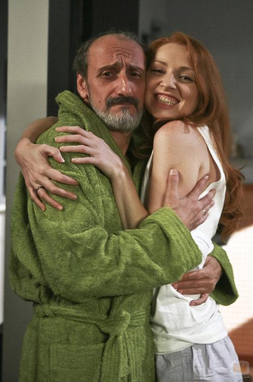 Enrique y Judith posan juntos en la sexta temporada de 'La que se avecina'
