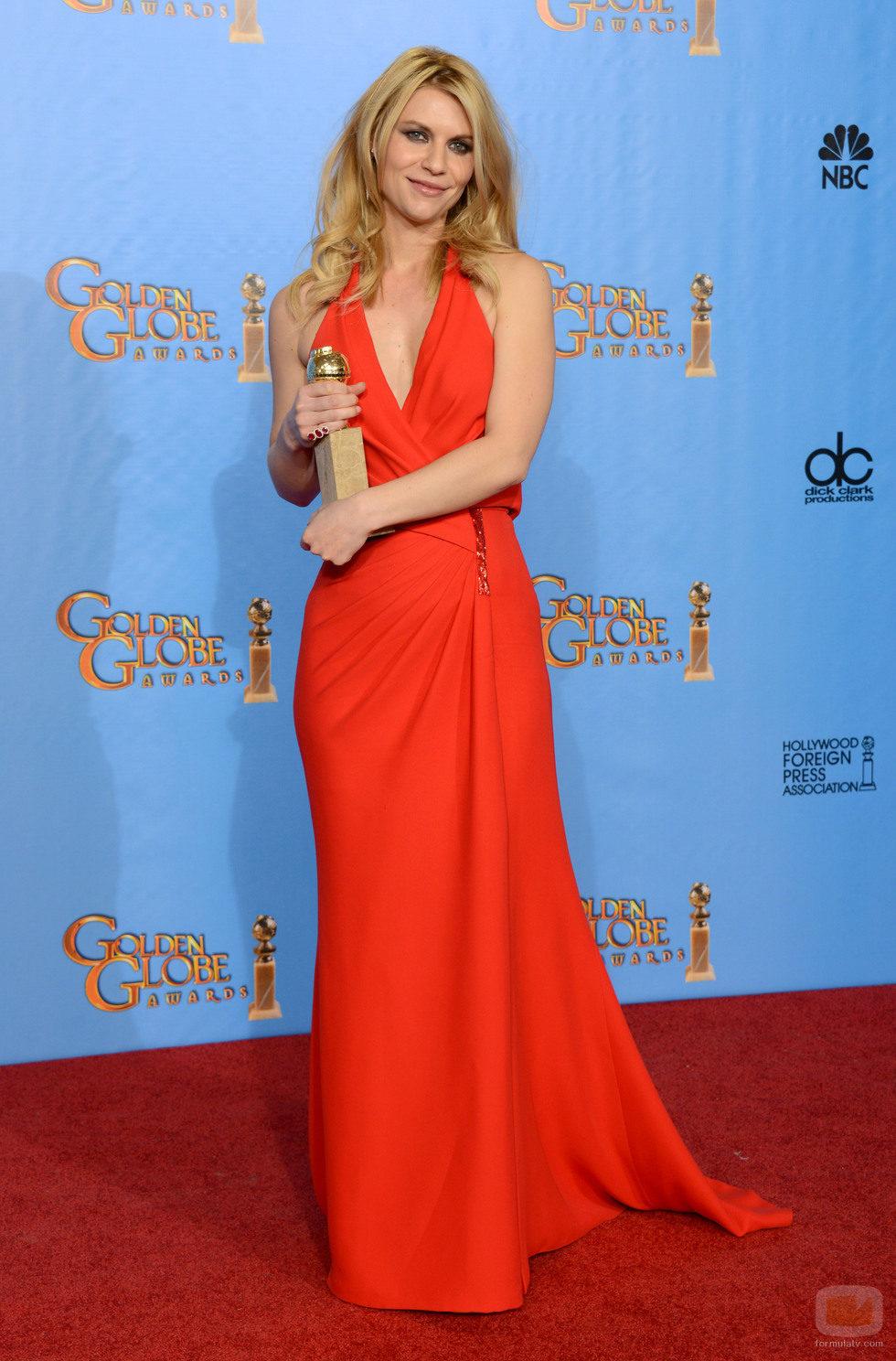 Claire Danes, Mejor Actriz de Drama por 'Homeland' en los Globos de Oro 2013