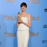 """Anne Hathaway, Mejor Actriz de Reparto por """"Los Miserables"""" en los Globos de Oro 2013"""