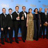 El reparto de 'Homeland' con su Globo de Oro 2013 al Mejor Drama