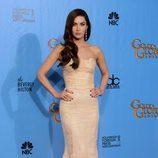 Megan Fox posa en la alfombra roja de los Globos de Oro 2013