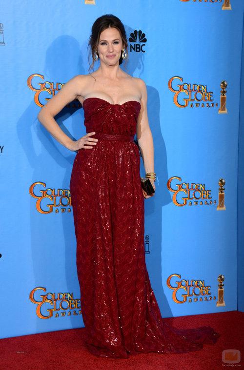 Jennifer Garner acompañó a su marido Ben Affleck en los Globos de Oro 2013