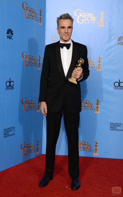 """Daniel Day-Lewis, Mejor Actor de Drama por """"Lincoln"""" en los Globos de Oro 2013"""