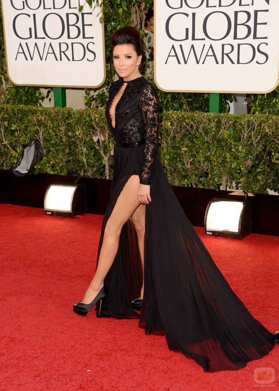 Eva Longoria en el photocall de los Globos de Oro 2013