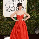 Zooey Deschanel, de 'New Girl', en los Globos de Oro 2013
