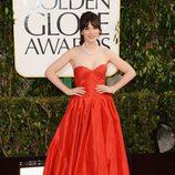 Zooey Deschanel, de 'New Girl', en los Globos de Oro 2013