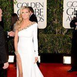 La presentadora Heidi Klum en los Globos de Oro 2013