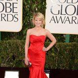 Melissa Rauch, de 'The Big Bang Theory', en los Globos de Oro 2013