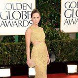 Emily Blunt en la alfombra roja de los Globos de Oro 2013