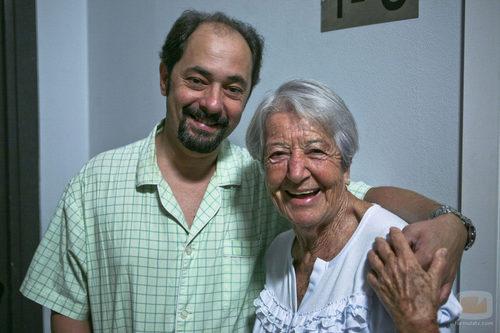 Asunción Balaguer junto a Jordi Sánchez en su aparición en el nuevo capítulo de 'La que se avecina'
