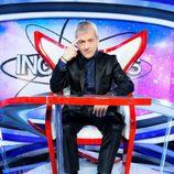 Carlos Sobera sentado en la silla de 'Increíbles. El gran desafío'