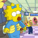 """Maggie Simpson en la guardería en """"El día más largo de Maggie"""""""