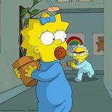 """Maggie Simpson huye del bebé de una sola ceja en """"El día más largo de Maggie"""""""